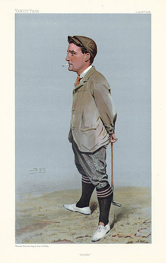 "Harold Hilton - Caricature of Hilton, ""Hoylake"" by Spy (from Vanity Fair magazine)"