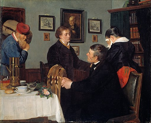 Harriet Backer - The Farewell - Google Art Project