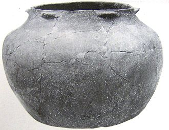 Bussell Island - Pottery vessel uncovered by Harrington in 1919