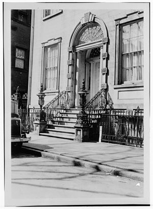 Rensselaer County Historical Society -  Hart Cluett Mansion Entrance, Historic American Buildings Survey, 1934, RCHS