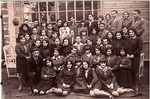 Hashomer Hatzair - Hashomer Hatzair youth group of the city Slonim in Poland, 1934