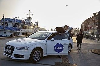 Haxi - Haxi driver is picking up passengers in Copenhagen