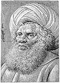 Head of a Bearded Man Wearing a Turban (recto); Latin script (verso) MET 225752.jpg