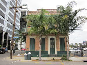 New Orleans: Former home of writer Lafcadio He...