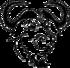 GNU head, testa con barba tipica e corna arricciate, con un sorriso soddisfatto e sguardo profondo
