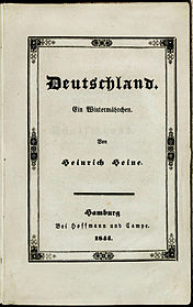 """""""Germany.  A winter fairy tale. """"Cover (interim brochure) of the first separate edition in 1844"""