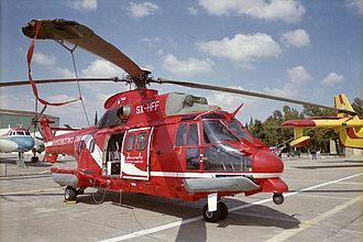 Hellenic Fire Service - HFS Super Puma helicopter SX-HFF
