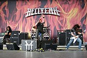 The band Hellyeah, with Vinnie Paul and Bob Kakaha