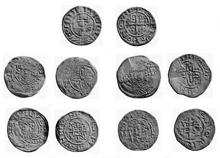 Silver pennies of Henry I, struck at the Oxford mint Henry I coins.jpg