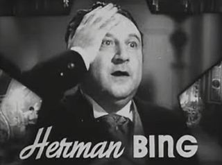 Herman Bing 1930s-1940s character actor