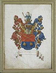 Het wapen van Susanna van Collen (1692-1745), echtgenote van Jacob Feitama