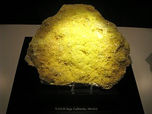 Hillman Hall of Minerals and Gems - Native sulfur, Baja California