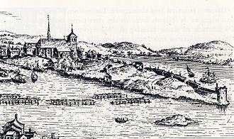 1585 in Sweden - Hogenberg Gråmunkeholmen 1585