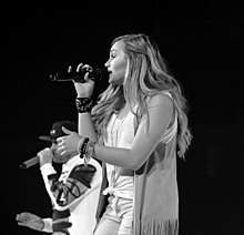 Hollyn in 2016 with TobyMac