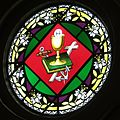 Holy Trinity Catholic Church (Trinity, Indiana) - stained glass, Host & Chalice on the Bible, Cross, and anchor.jpg