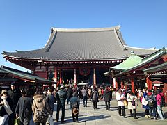 Hondo (Main Hall) of Sensoji Temple.jpg