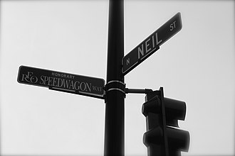 REO Speedwagon - Main Street in Champaign, named REO Speedwagon Way in honor of the band