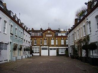 Mews - Horbury Mews, located near Ladbroke Road in Notting Hill