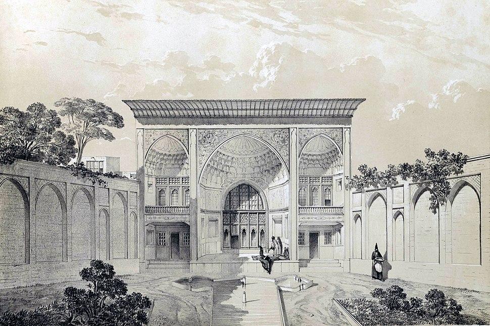 House Hussein Khan, Tabriz by Eugène Flandin