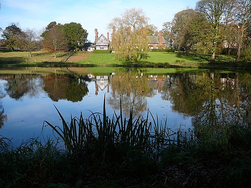 Houses and pond at Arley Green, Cheshire-geograph-2161534-by-Colin-Park