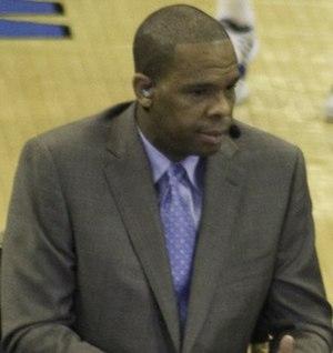 Hubert Davis - Davis on ESPN's College Gameday broadcast.