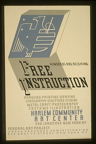 Lithography - Jerome Henry Rothstein created this poster as a part of one of the WPA programs in 1936 at the Harlem Community Art Center.