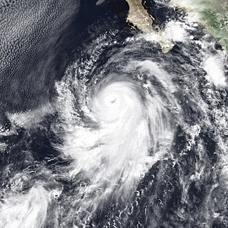 1989 Pacific hurricane season - Image: Hurricane Octave Sep 12 1989 1801Z