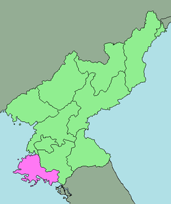 Location of South Hwanghae Province