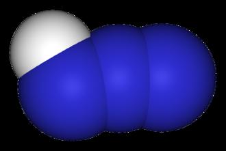 Hydrazoic acid - Image: Hydrogen azide 3D vd W
