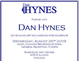 Daniel Hynes - Invitation to an early fundraiser for Hyne's campaign