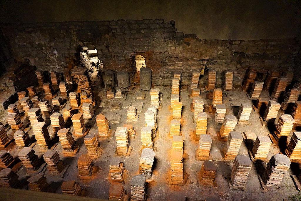 Hypocaust of the Heated Room - Roman Baths (Bath)