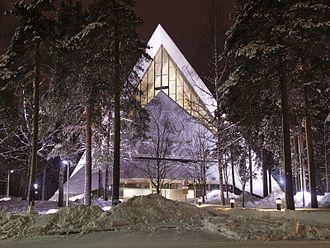 Hyvinkää - The modern church of Hyvinkää, Aarno Ruusuvuori 1961.