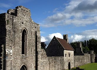 Boyle, County Roscommon - Boyle Abbey - restored gatehouse, centre