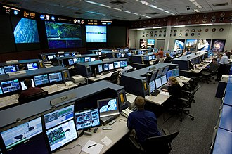 Control room - Image: ISS Flight Control Room 2006