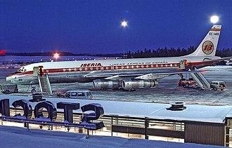 Iberia (airline) - Iberia Douglas DC-8-52 at Stockholm in 1969