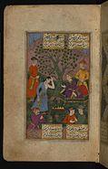 Ibn Sayyid Murad al-Husayni - Young Hindu Girl Before the Mughal Emperor Akbar - Walters W64916A - Full Page