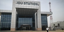 Photo Showing the Exterior of Idu Railway Station Terminal