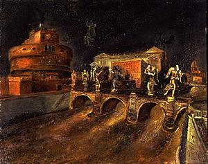 Scuola Romana - Il ponte degli angeli (The Bridge of Angels,1930), work by Scipione (Gino Bonichi)