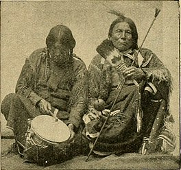 "Peyotists with their ceremonial tools Image from page 976 of ""Bulletin"" (1901).jpg"