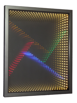 Infinity mirror - A classic infinity mirror used as a wall decoration