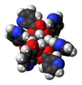 Inositol nicotinate molecule spacefill.png