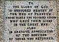 Inscription on Padstow war memorial - geograph.org.uk - 1470309.jpg