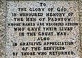 Inscription on Padstow war memorial - geograph.org.uk - 1470309.jpg
