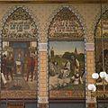 Interieur, eerste verdieping, achterzijde rechts (Statenzaal), muurschildering, 1440 Thomas a Kempis leert zijn navolging Christi aan de Religieuzen van Windesheim - Zwolle - 20393816 - RCE.jpg