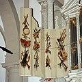 Interieur, orgel, detail - binnenzijde van het linker rugwerkluik, 'Muziekinstrumenten. Vervaardiger- Gerard de Lairesse, 1686 - Amsterdam - 20411622 - RCE.jpg