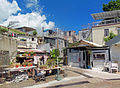 Intersection of Chi Yan Street and back alley, Peng Chau, Hong Kong.jpg