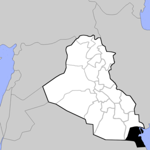 Governorates of Iraq - Borders of the Iraqi governorates 1980-2003. Kuwait was annexed as 19th governorat 1990-1991.