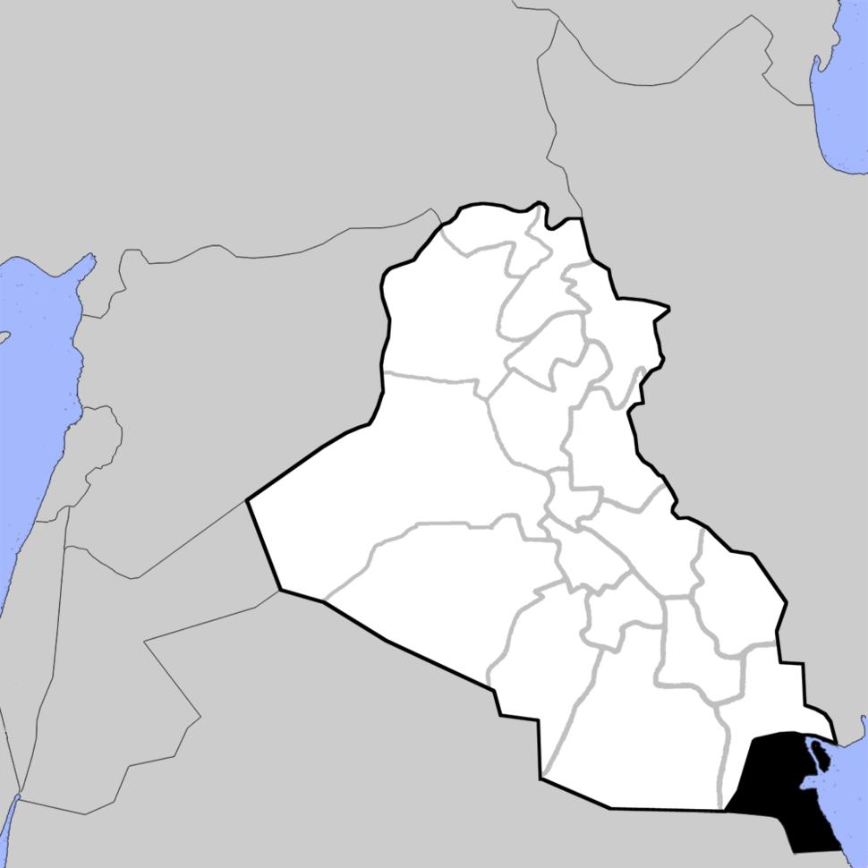Irak Provinzengrenzen 1991
