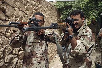 Designated marksman rifle - Image: Iraqi SVD