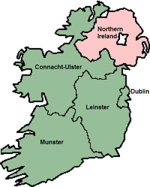 European Parliament election, 1979 (Ireland) - 1979–2004 European Parliament Ireland constituencies